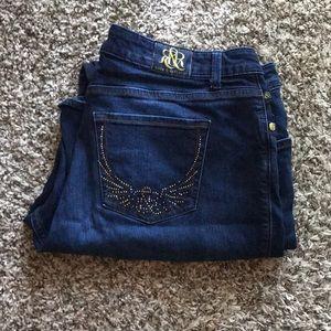 Rock & Republic Kasandra Dark Wash Jeans 20W Short